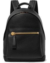 Tom Ford Full-grain Leather Backpack - Black