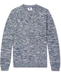 NN07 - Kim Slim-fit Mélange Cotton Sweater - Lyst