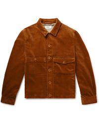 Ymc Lyst Fleece Shawl Men Jacket Collar In Orange For dzxxwnA