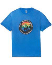 Polo Ralph Lauren - Printed Cotton-jersey T-shirt - Lyst
