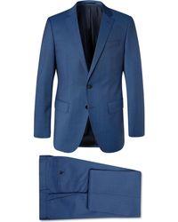 BOSS Navy Huge/genius Slim-fit Super 120s Virgin Wool Suit