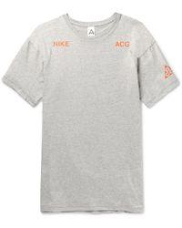 Nike - Lab Acg Printed Cotton-jersey T-shirt - Lyst