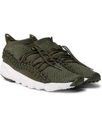 Nike - Air Footscape Woven Chukka Leather And Flyknit Trainers - Lyst