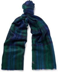 Anderson & Sheppard - Checked Cashmere Scarf - Lyst