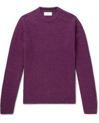 MR P. - Shetland Virgin Wool Sweater - Lyst