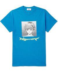 Flagstuff - Printed Cotton-jersey T-shirt - Lyst