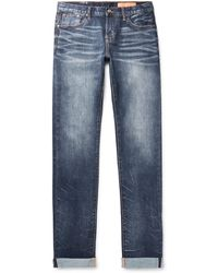 Jean Shop - Mick Slim-fit Selvedge Stretch-denim Jeans - Lyst