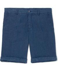 Etro - Slim-fit Linen Shorts - Lyst