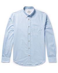 Acne Studios - Isherwood Button-down Collar Striped Cotton-poplin Shirt - Lyst