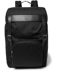 Saint Laurent - Moon Leather-trimmed Canvas Backpack - Lyst