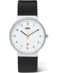 Braun - Bn0032 Stainless Steel And Leather Watch - Lyst