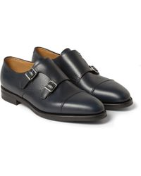 John Lobb - William Ii Full-grain Leather Monk-strap Shoes - Lyst
