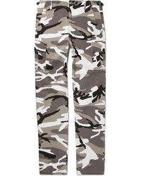Balenciaga - Slim-fit Camouflage-print Cotton-twill Cargo Trousers - Lyst