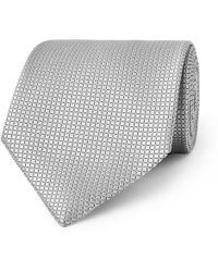 Ermenegildo Zegna - 8cm Textured-silk Tie - Lyst