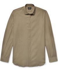 JOSEPH - Jean Pierre Slim-fit Cotton-poplin Shirt - Lyst