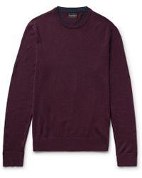 Club Monaco | Slim-fit Layered Merino Wool Jumper | Lyst