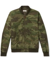 J.Crew | Wallace & Barnes Camouflage-print Cotton-ripstop Bomber Jacket | Lyst