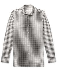 Dunhill - Slim-fit Gingham Cotton-flannel Shirt - Lyst