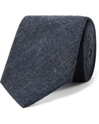 Oliver Spencer - Abingdon Mélange Cotton Tie - Lyst