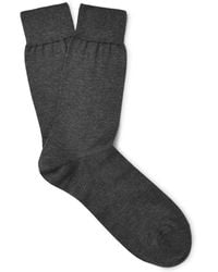 Alexander McQueen - Skull-embroidered Cotton-blend Socks - Lyst