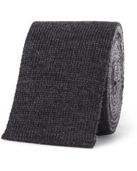 Thom Browne - 5cm Striped Knitted Wool Tie - Lyst
