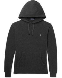 Polo Ralph Lauren - Mélange Loopback Cotton-jersey Hoodie - Lyst