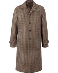 Officine Generale - Serge Puppytooth Wool Coat - Lyst