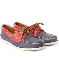 Quoddy - Downeast Two-tone Leather Boat Shoes - Lyst