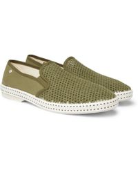 Rivieras - Canvas And Cotton-mesh Espadrilles - Lyst