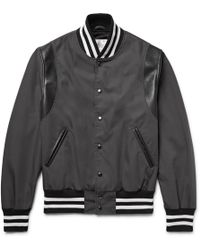 Discount Inexpensive Leather-trimmed Cotton-blend Canvas Bomber Jacket Golden Bear Sportswear Best Prices Cheap Price SKyJhL