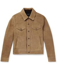 Rag & Bone - Suede Trucker Jacket - Lyst