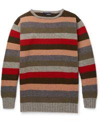 Lardini - Striped Wool Sweater - Lyst