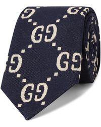 Gucci - 8.5cm Logo-jacquard Cotton Tie - Lyst
