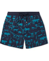 Vilebrequin - Moorea Mid-length Flocked Swim Shorts - Lyst