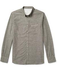 Officine Generale - Button-down Collar Selvedge Cotton Oxford Shirt - Lyst