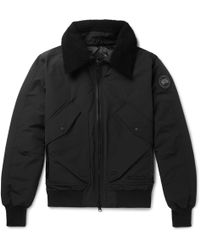 Canada Goose - Bromley Shearling-trimmed Shell Down Bomber Jacket - Lyst