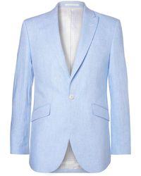 Favourbrook - Sky-blue Evering Newport Linen Suit Jacket - Lyst