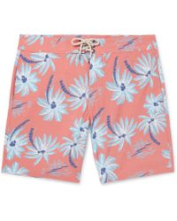 Faherty Brand - Beacon Slim-fit Long-length Printed Swim Shorts - Lyst