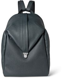 Valextra - Pebble-grain Leather Backpack - Lyst