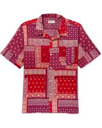 Universal Works - Patchwork Printed Cotton Shirt - Lyst