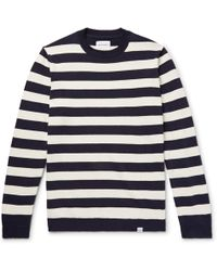 Norse Projects | Arild Striped Cotton And Linen-blend Jumper | Lyst