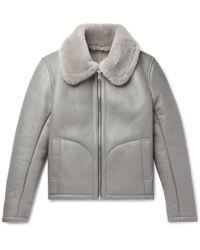 YMC - Shearling Jacket - Lyst