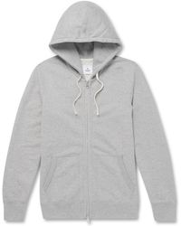 Reigning Champ - Slim-fit Mélange Loopback Cotton-jersey Zip-up Hoodie - Lyst