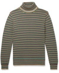 Sandro - Striped Cotton Rollneck Sweater - Lyst