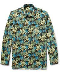 Freemans Sporting Club - Printed Cotton-poplin Shirt - Lyst