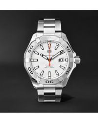 Tag Heuer | Aquaracer Automatic 43mm Steel Watch | Lyst