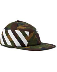 Off-White c/o Virgil Abloh - Camouflage-print Stretch-cotton Canvas Cap - Lyst