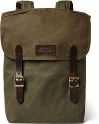 Filson - Ranger Leather-trimmed Twill Backpack - Lyst