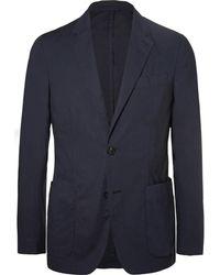 Ermenegildo Zegna - Navy Stretch-cotton Poplin Suit Jacket - Lyst
