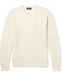 Ralph Lauren Purple Label - Cable-knit Cashmere Sweater - Lyst